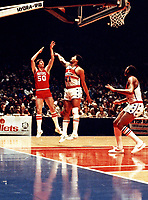 In this undated file photo, Washington Bullets (now Washington Wizards) center Wes Unseld (41) in game action against the Philadelphia 76ers at the Capital Centre in Landover, Maryland.  Unseld passed away on June 2, 2020 at the age of 74.<br /> Credit: Arnie Sachs/CNP/AdMedia/AdMedia