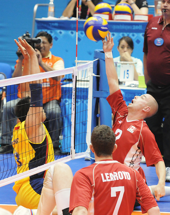 Mikael Bartholdy, Guadalajara 2011 - Sitting Volleyball // Volleyball Assis.<br /> Team Canada takes on Columbia in the Bronze Medal Game // Équipe Canada affronte Columbia dans le match pour la médaille de bronze. 11/18/2011.