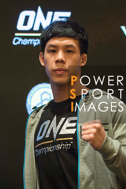 Eddie Ng, fighter of One Championship - Heroes of the World poses for photos during the press conference on 04 August 2016 held at Conrad Hotel, Hong Kong, China. Photo by Marcio Machado / Power Sport Images