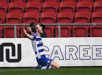 16th February 2021; Ashton Gate Stadium, Bristol, England; English Football League Championship Football, Bristol City versus Reading; Michael Morrison of Reading celebrates after scoring in the 45th minute 0-2