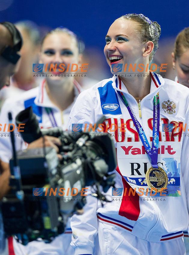 Podium<br /> Gold Medal<br /> TIMANINA Angelica<br /> Team Free Final<br /> Day8 10/07/2015<br /> XVI FINA World Championships Aquatics<br /> Synchro<br /> Kazan Tatarstan RUS July 24 - Aug. 9 2015 <br /> Photo Pasquale Mesiano/Deepbluemedia/Insidefoto