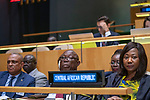 General Assembly Seventy-fourth session, 5th plenary meeting<br /> <br /> His Excellency Faustin Archange Touadera, Head of State, Central African Republic