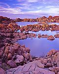 Jumbo rocks glow at Watson Lake near Prescott, Arizona