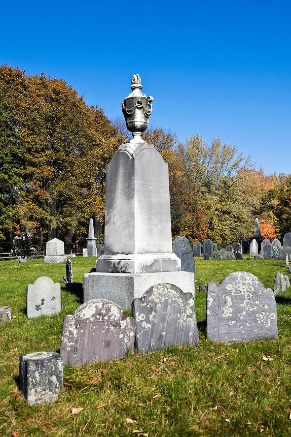 Historic cemetery in Lexington, MA, Massachusetts
