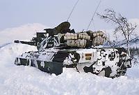 - Norwegian army, Leopard tank during exercises of NATO Mobile Force of ready intervention (AMF) ....- esercito norvegese, carro armato Leopard durante esercitazioni della Forza Mobile NATO di pronto intervento (AMF)