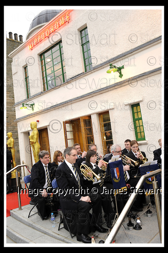07/04/2009  Copyright Pic: James Stewart.File Name : _DSC1818.KINEIL BAND PLAY AT THE FIRST NIGHT OFFICIAL RE-OPENING OF THE HIPPODROME IN BO'NESS.....James Stewart Photography 19 Carronlea Drive, Falkirk. FK2 8DN      Vat Reg No. 607 6932 25.Telephone      : +44 (0)1324 570291 .Mobile              : +44 (0)7721 416997.E-mail  :  jim@jspa.co.uk.If you require further information then contact Jim Stewart on any of the numbers above.........