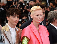 CANNES, FRANCE. July 12, 2021: Timothee Chalamet & Tilda Swinton at the gala premiere of Wes Anderson's The French Despatch at the 74th Festival de Cannes.<br /> Picture: Paul Smith / Featureflash