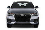 Car photography straight front view of a 2018 Audi Q3  2.0T-FWD-tiptronic-Premium-Plus  5 Door SUV