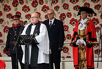 Pictured: Local dignitaries attend. Saturday 11 November 2017<br /> Re: Armistice Day, two minutes were observed to mark remembrance at Castle Square in Swansea, Wales, UK.