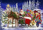 Interlitho-Franco,CHRISTMAS SANTA, SNOWMAN, WEIHNACHTSMÄNNER, SCHNEEMÄNNER, PAPÁ NOEL, MUÑECOS DE NIEVE, paintings+++++,KL6182A,#x#