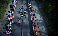 race leaders coming up the Cauberg with a 9 minute lead over the peloton<br /> <br /> 50th Amstel Gold Race 2015