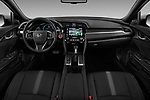 Stock photo of straight dashboard view of 2017 Honda Civic Executive 5 Door Hatchback Dashboard