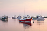 A summer sunrise in Chatham Harbor, Chatham, Cape Cod, MA, USA