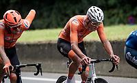 Mathieu van der Poel (NED/Alpecin-Fenix)<br /> <br /> Elite Men World Championships - Road Race<br /> from Antwerp to Leuven (268.3km)<br /> <br /> UCI Road World Championships - Flanders Belgium 2021<br /> <br /> ©kramon