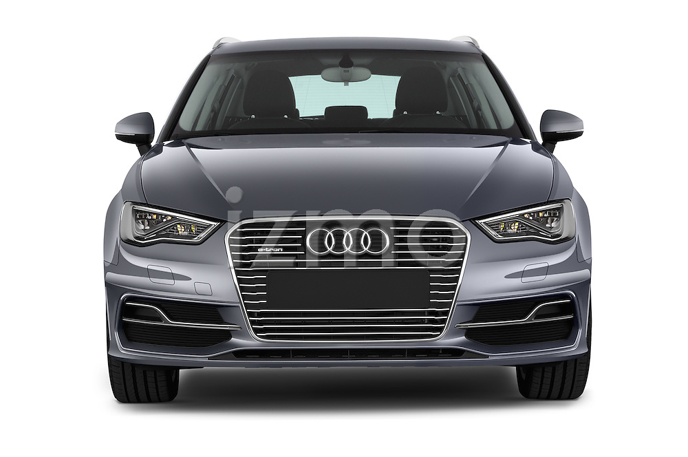 Car photography straight front view of a 2015 Audi A3 Ambiente 5 Door Hatchback 2WD Front View