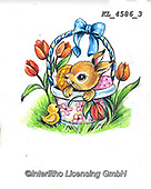 EASTER, OSTERN, PASCUA, paintings+++++,KL4586/3,#e#, EVERYDAY ,rabbit,rabbits ,sticker,stickers,