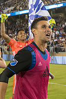STANFORD, CA - JUNE 29: Chris Wondolowski #8 during a Major League Soccer (MLS) match between the San Jose Earthquakes and the LA Galaxy on June 29, 2019 at Stanford Stadium in Stanford, California.