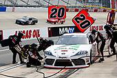 #20: Harrison Burton, Joe Gibbs Racing, Toyota Supra Fields/DEX Imaging pit stop