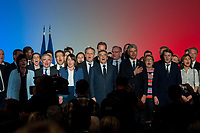 MEETING DE FRANCOIS FILLON A LYON, FRANCE, 12/04/2017. FIN DE MEETING AVEC LA MARSEILLAISE