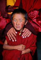 Monk outside Sershul, Kham, Tibet, 2006.