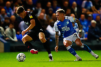 28th August 2021; Weston Homes Stadium, Peterborough, Cambridgeshire, England; EFL Championship football, Peterborough United versus West Bromwich Albion; Sammie Szmodics of Peterborough United attempts to win the ball from Dara O'Shea of West Bromwich Albion