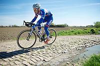 Tim De Troyer (BEL/Wanty-GroupeGobert)<br /> <br /> 2014 Paris - Roubaix reconnaissance