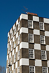 Page Street social housing flats checkerboard design blocks of flats designed by Sir Edwin Lutyens part of the Grosvenor Estate owned by the Duke of Westminster