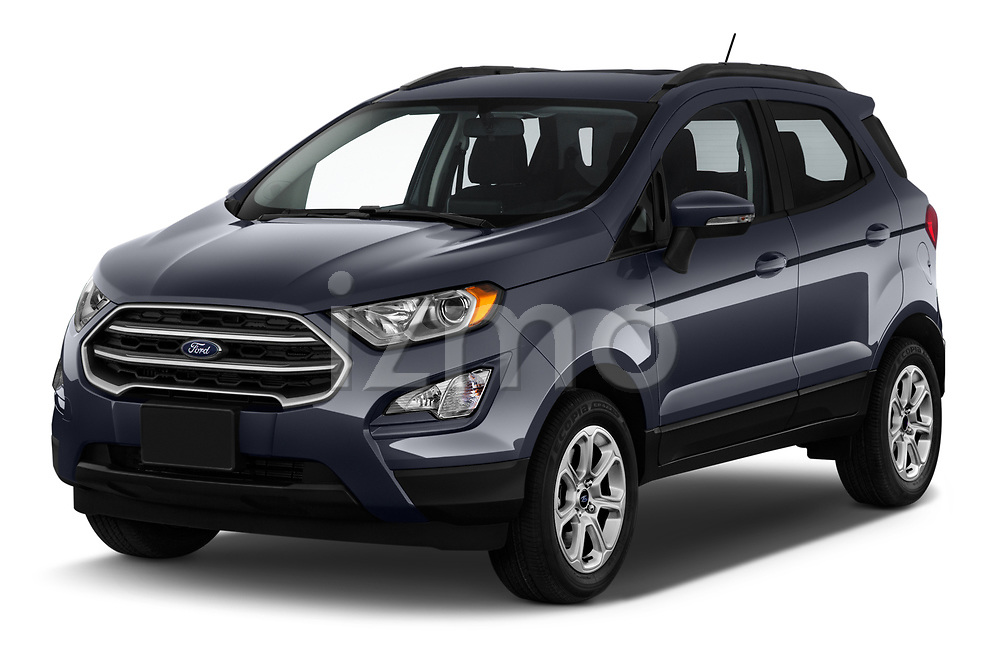 2018 Ford EcoSport SE 5 Door SUV angular front stock photos of front three quarter view