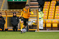 23rd May 2021; Molineux Stadium, Wolverhampton, West Midlands, England; English Premier League Football, Wolverhampton Wanderers versus Manchester United; Morgan Gibbs-White of Wolverhampton Wanderers on the ball taking it over the halfway line