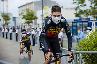 Belgian National Champion Wout van Aert (BEL/Jumbo Visma) at the pre Tour teams presentation of the 108th Tour de France 2021 in Brest at le Grand Départ.<br /> <br /> 108th Tour de France 2021<br /> <br /> ©kramon