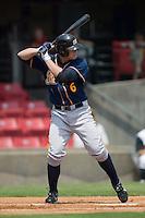 Montgomery third baseman Evan Longoria (6) at bat versus Carolina at Five County Stadium in Zebulon, NC, Wednesday, July 18, 2007.