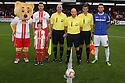 Mascot, captains and officials<br />  - Stevenage v Carlisle Untied - Sky Bet League 1 - Lamex Stadium, Stevenage - 21st September, 2013<br />  © Kevin Coleman 2013
