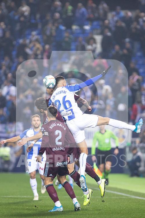 CD Leganes's  Youssef En-Nesyri and RC Celta de Vigo's  Hugo Mallo during La Liga match 2019/2020 round 16<br /> December 8, 2019. <br /> (ALTERPHOTOS/David Jar)