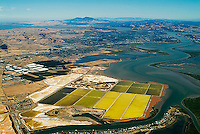 aerial photograph of salt ponds Napa, California