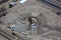 aerial photograph of the railway turntable, Albuquerque, New Mexico