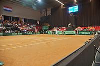 15-sept.-2013,Netherlands, Groningen,  Martini Plaza, Tennis, DavisCup Netherlands-Austria, boarding<br /> Photo: Henk Koster