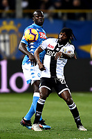 Kalidou Koulibaly of Napoli , Gervinho of Parma <br /> Parma 24-02-2019 Ennio Tardini <br /> Football Serie A 2018/2019 Parma - Napoli <br /> Foto Image Sport / Insidefoto
