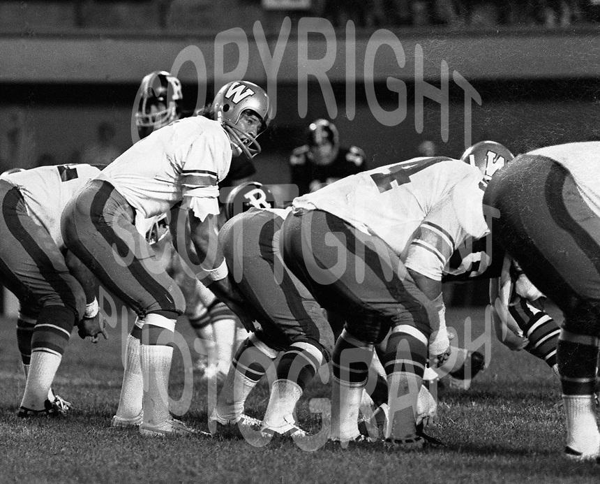 Dieter Brock Winnipeg Blue Bombers quaterback 1974. Photo Scott Grant