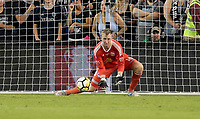 Kansas City, KS - Wednesday September 20, 2017: Ryan Meara during the 2017 U.S. Open Cup Final Championship game between Sporting Kansas City and the New York Red Bulls at Children's Mercy Park.