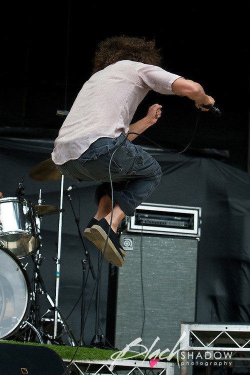 One Day As A Lion (featuring Zack De La Rocha) performing at the Soundwave Festival, Melbourne, 4 March 2011