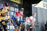 Mathieu Van der Poel (NED/Alpecin-Fenix) wins the 104th Ronde van Vlaanderen 2020 (1.UWT).<br /> Wout van Aert (BEL/Jumbo - Visma) finishes 2nd & Alexander Kristoff (NOR/UAE-Emirates) 3rd.<br /> <br /> 1 day race from Antwerpen to Oudenaarde (BEL/243km) <br /> <br /> ©kramon