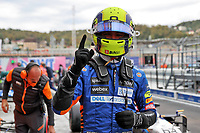 25th September 2021; Sochi, Russia; F1 Grand Prix of Russia  qualifying sessions; F1 Grand Prix of Russia 4 Lando Norris GBR, McLaren F1 Team,  takes pole for the race