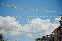 yellow flags along the way<br /> <br /> st16: Morain-en-Montagne to Bern (SUI) / 209km<br /> 103rd Tour de France 2016