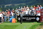 ISPS Handa Wales Open Golf final day at the Celtic Manor Resort in Newport, UK. : Lee Westwood of England tees off the 17th.