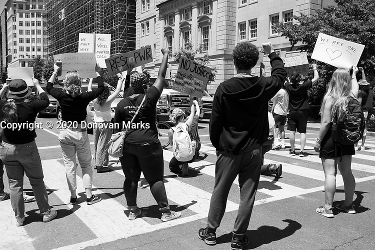 Washington, DC June 1, 2020 - Protesters take to the streets in response to the killing of George Floyd.