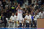 Real Madrid´s Felipe Reyes during 2014-15 Euroleague Basketball match between Real Madrid and Galatasaray at Palacio de los Deportes stadium in Madrid, Spain. January 08, 2015. (ALTERPHOTOS/Luis Fernandez)