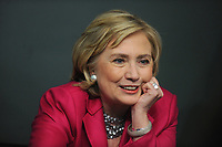 NEW YORK, NY - JUNE 10: Former US Secretary of State Hillary Rodham Clinton promotes 'Hard Choices' at Barnes & Noble Union Square on June 10, 2014 in New York City.<br /> <br /> People:  Hillary Rodham Clinton