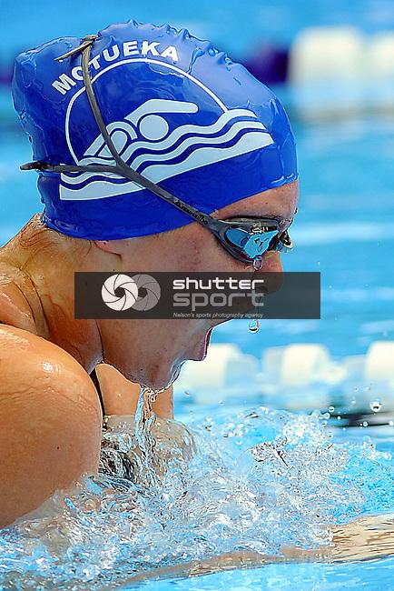 Motueka`s Samantha Trevurza during the Swimming club champs. Motueka High School, Motueka, Nelson, New Zealand. Saturday 8 December 2012. Credit Chris Symes/www.shuttersport.co.nz