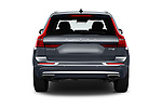 Straight rear view of 2020 Volvo XC60 Inscription-T8-eAWD-Plug-in-Hybrid 5 Door SUV Rear View  stock images