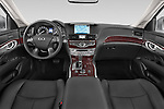 Stock photo of straight dashboard view of a 2015 Infiniti Q70 Base 4 Door Sedan Dashboard